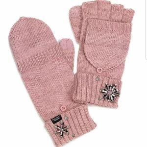Victoria's secret pink snowflakes gloves